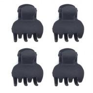 Soho® Mini hårklemmer - Sorte 4 stk
