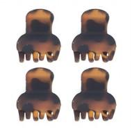 Soho® Mini hårklemmer - Tortoise 4 stk