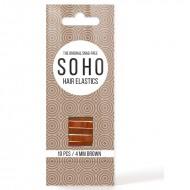 SOHO Snag-Free Hårelastikker, brun - 10 stk