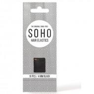 SOHO Snag-Free Hårelastikker, sort - 10 stk