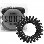 SOHO® Spiral Hårelastikker, ALL BLACK - 3 stk