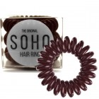 SOHO® Spiral Hårelastikker, CHOCOLATE BROWN - 3 stk