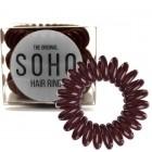 SOHO® Spiral Hårelastikker, CHOCOLATE BROWN - 3 stk