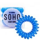 SOHO® Spiral Hårelastikker, ROYAL BLUE - 3 stk