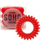SOHO® Spiral Hårelastikker, STRAWBERRY RED - 3 stk