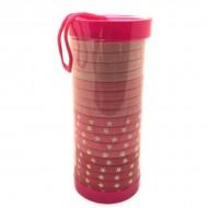 SOHO® Tube Pink Star hårelastikker - 20 stk