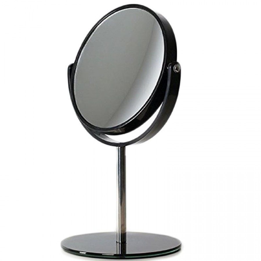 makeup spejl Sort Makeup Spejl med fod   Uniq® design makeup spejl