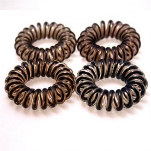 Spiral elastikker- Brun 4 stk