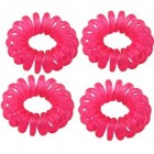 Spiral Elastikker - lyserød 4 stk