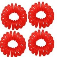 Spiral elastikker - rød 4 stk