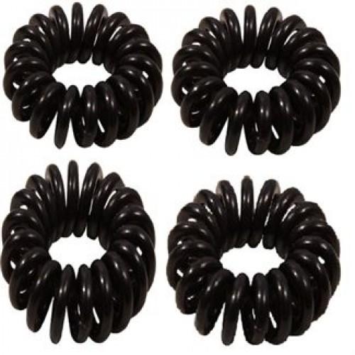 Spiral elastikker- Sort 4 stk
