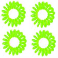 Spiral elastikker turkis Grøn 4 stk.