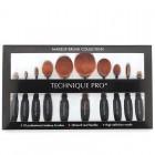 Technique PRO® Ovalbørster til Makeup - 10 sæt