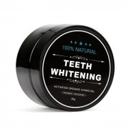 Teeth Whitening 100% organic - sort tandpasta med aktivt kul (30 g)