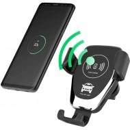 Trådløs mobiloplader til bil m. Qi - Fast Charge