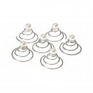 Twist Hair Pins med perler