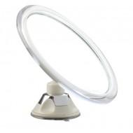 UNIQ Badeværelsesspejl med sugekop - 10x forstørrelse, hvid.