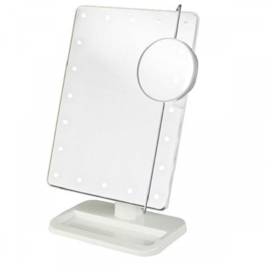 makeup spejl med lys Uniq Hollywood Makeup Spejl med lys, Hvid   LED Mirror x10 makeup spejl med lys
