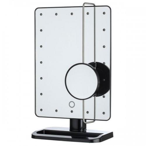 Uniq Hollywood Makeup Spejl med lys, Sort - LED Mirror x10