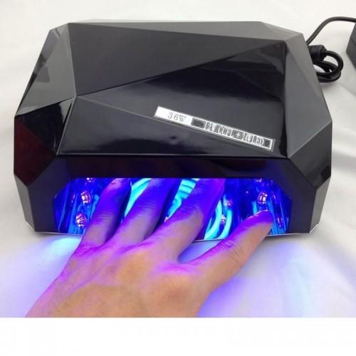 UV Lampe til negle med LED-lys 36 watt 220v Sort