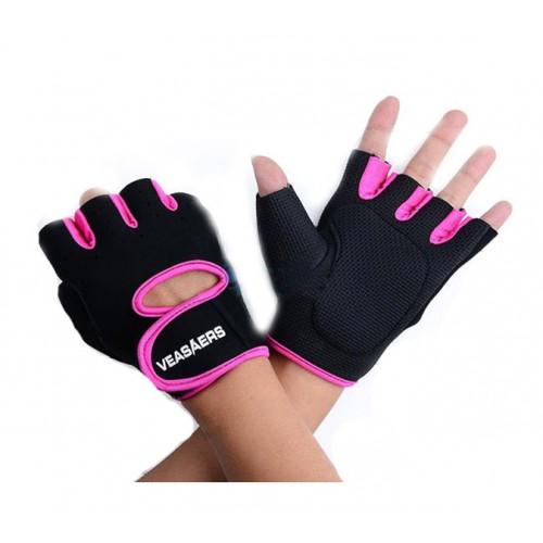 Veasaers Fitness handsker i pink