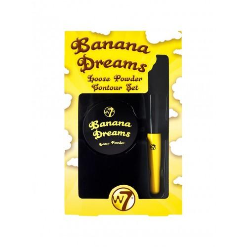W7 Banana Dreams Loose Powder Contour Kit m Børste