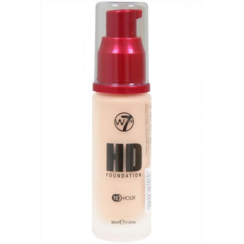 W7 HD Foundation 12 hour - 30 ml Natural Beige