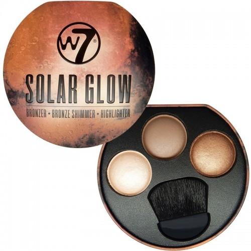 W7 Solar Glow - Bronzer, Shimmer, Highlighter palette
