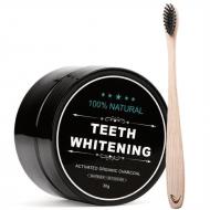 Whitening Tandblegning med aktivt kul + Bambus Tandbørste
