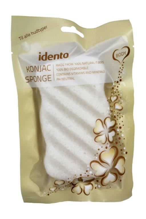 Image of   Konjac Sponge Svamp (til kroppen) - Wave Natural fra Idento