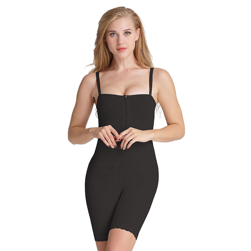 Image of   AVA® Shapewear Bodysuit Open Bust med straps, sort