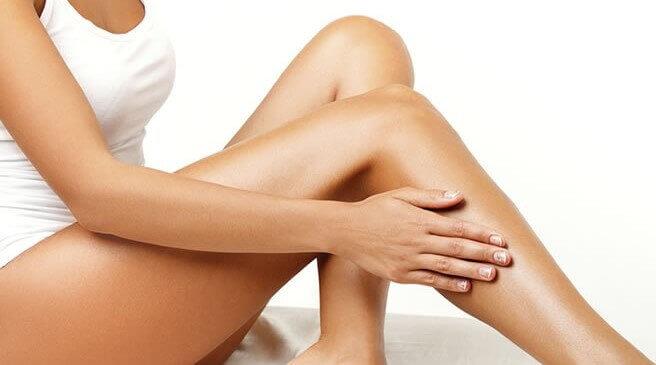 Silkebløde ben efter epilering.