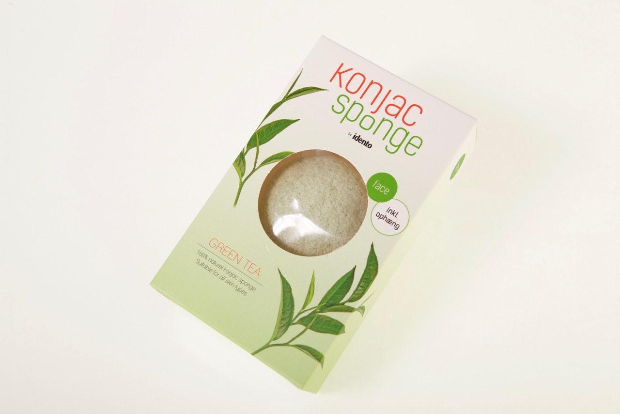 Image of   Konjac Dry Sponge Half Ball Green Tea ( til ansigt )