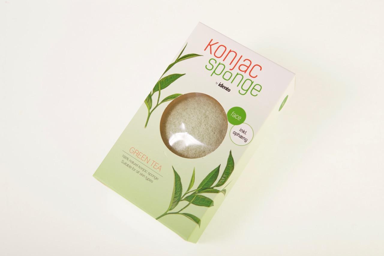 Image of   Konjac Dry Sponge Half Ball Green Tea ( til ansigt )