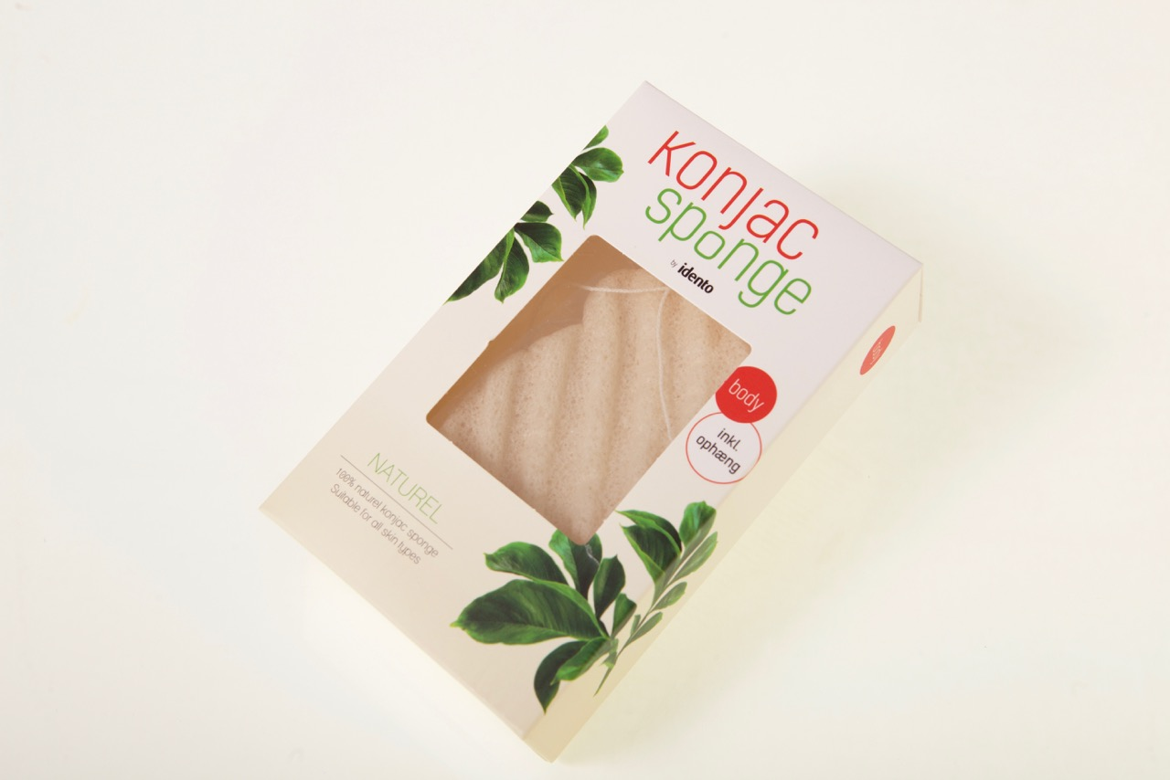 Image of   Konjac Dry Sponge Natural Wave ( til kroppen )
