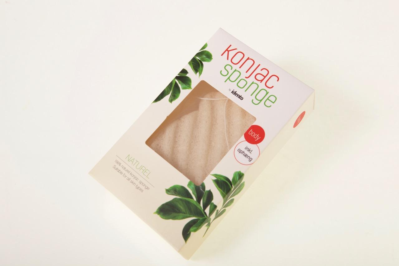 Image of   Konjac Dry Sponge Natural Wave ( til kroppen )