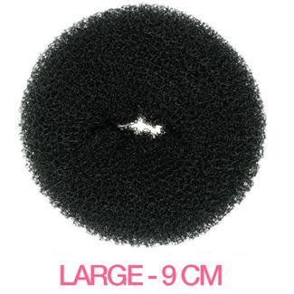 Hair Donut - Sort - 9 cm