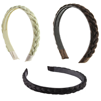 Image of   Hårbøjle med flettet hår - vælg mellem flere farver