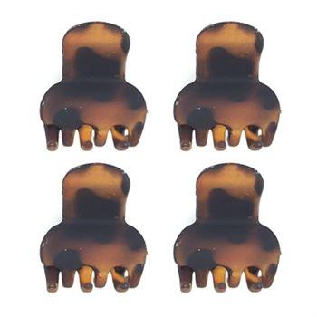 Image of   Soho® Mini hårklemmer - Tortoise 4 stk
