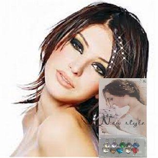 Image of   Hair Bling Farvede Diamanter til håret (10 stk)