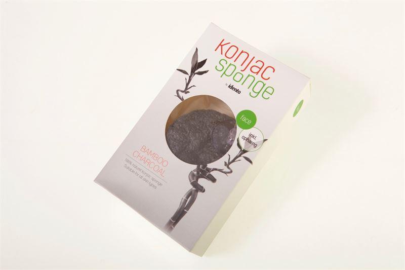 Image of   Konjac Svamp Dry Sponge Halfball Bamboo