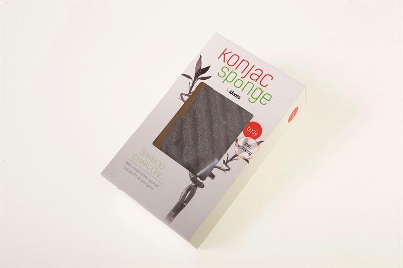 Image of   Konjac Svamp Dry Sponge Wave Bamboo Charcoal (til Kroppen)