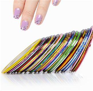 Image of   Negletape til flotte nail art striber - 10 taperuller