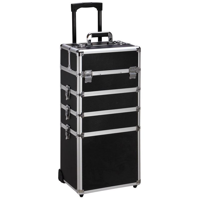 Image of   Avery® Beauty Box Train Case Trolley XL - Klassisk Sort