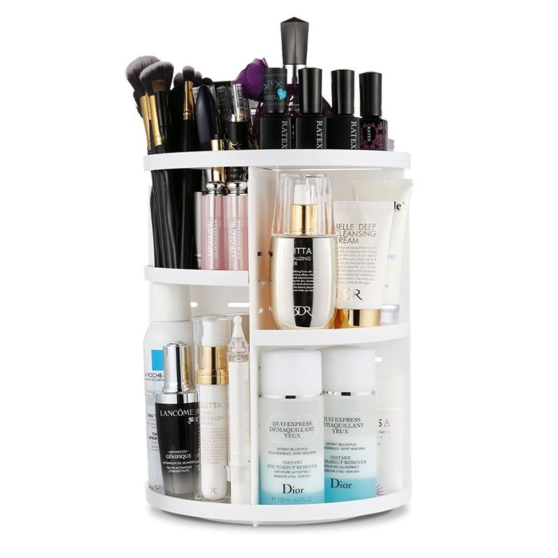 Image of   Monoko® 360º Rotating Cosmetic Organizer, Hvid