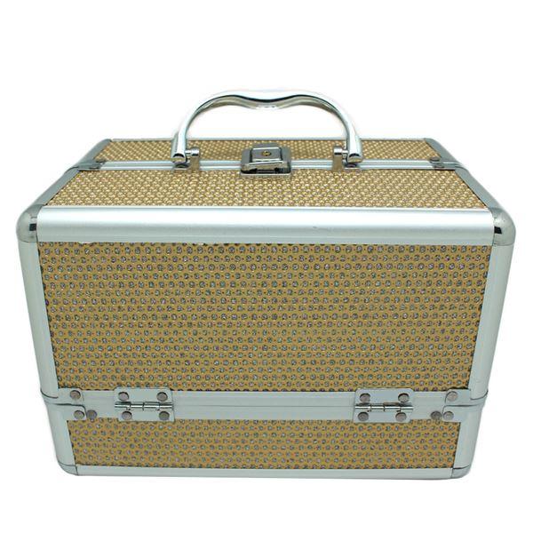 Image of   AVERY® Smykkeskrin / Beauty boks i aluminium, guld