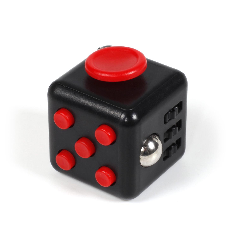 Image of   Fidget Cube i sort / rød