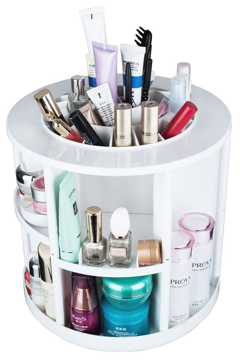 Image of   AVERY® 360º Rotating Cosmetic Organizer XL, Hvid