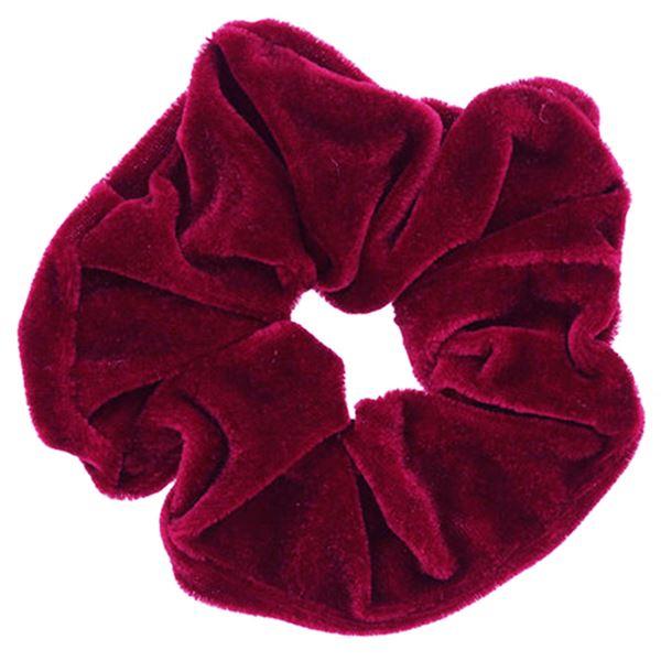 Scrunchie hårelastik - Rød