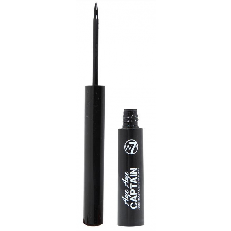 Image of   W7 Aye Aye Captain Liquid Eyeliner Very Black